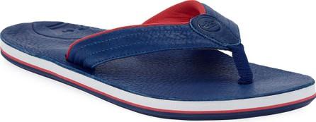 Hari Mari x Peter Millar Men's Leather Thong Sandals