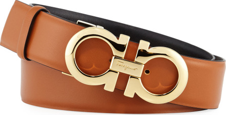 Salvatore Ferragamo Gancini-Buckle Leather Reversible Belt