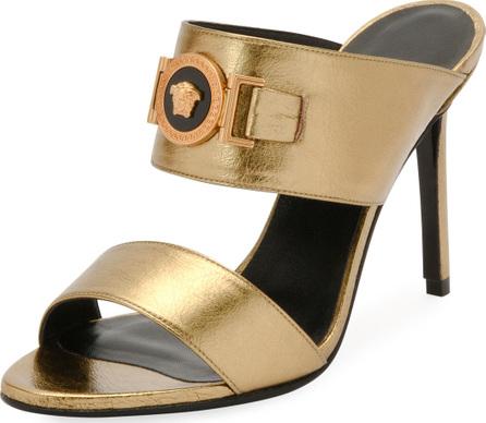Versace Icon Metallic Medusa Mule Slide Sandal
