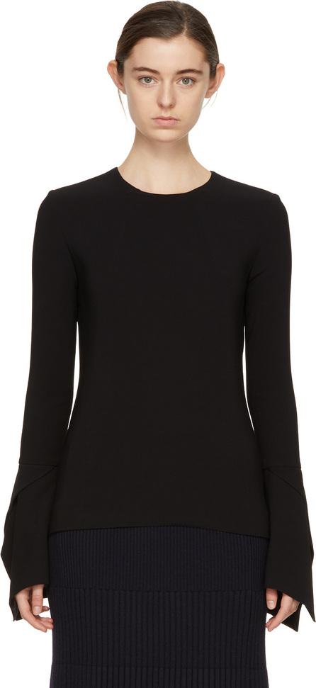 Victoria Beckham Black Flare Sleeve Blouse