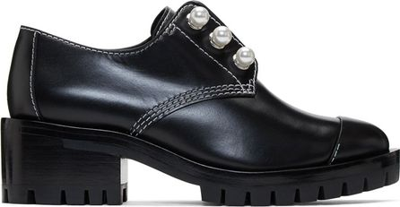 3.1 Phillip Lim Black Lug Zipper Pearl Oxfords