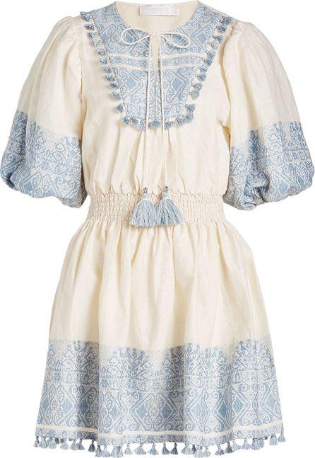 Zimmermann Tassel-Trimmed Mini Dress