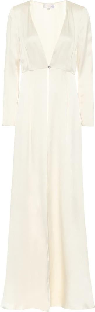 Temperley London Julianna silk-satin bridal coat