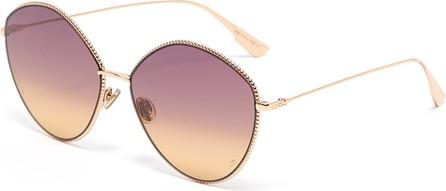 Dior DiorSociety4 angular metal frame gradient sunglasses