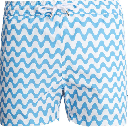 Frescobol Carioca Sports Copacabana-print swim shorts