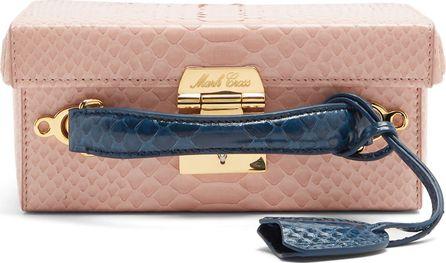 Mark Cross X Chelsea Leyland Grace small python box bag