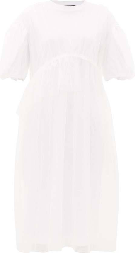 Simone Rocha Puff-sleeved tulle and cotton dress
