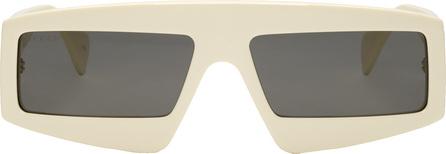 Gucci Off-White Oversized Sunglasses