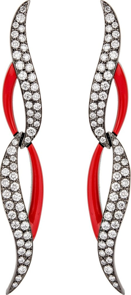 Etho Maria 18k White Gold, Diamond & Ceramic Earrings