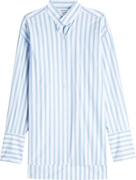 FRAME DENIM Clean Collared Striped Cotton Shirt