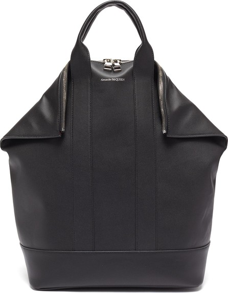 Alexander McQueen 'De Manta' leather backpack tote