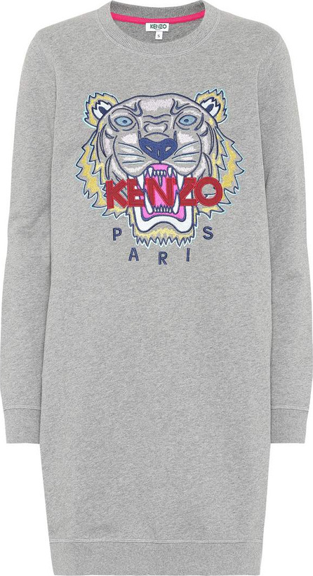 KENZO Embroidered cotton sweater dress