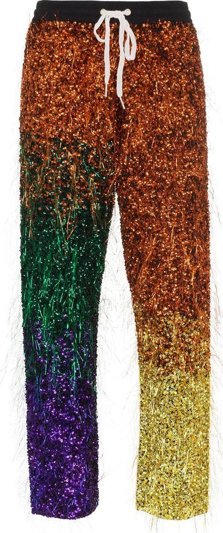 ASHISH Tinsel sequin embellished silk track pants