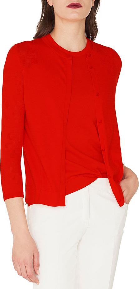 Akris Long-Sleeve Round-Neck Button-Down Floral-Jacquard Cardigan