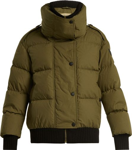 Burberry London England Funnel-collar quilted-down cotton jacket