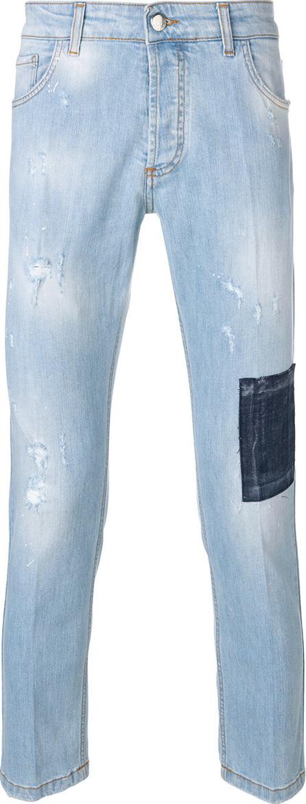 Entre Amis Patch detail jeans