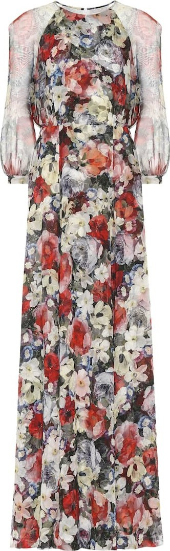 Erdem Lamara floral silk-voile gown