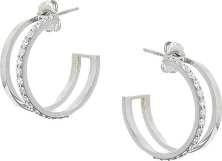 Lana Small Flawless Dare Hoop Earrings w/ Diamonds in 14k White Gold