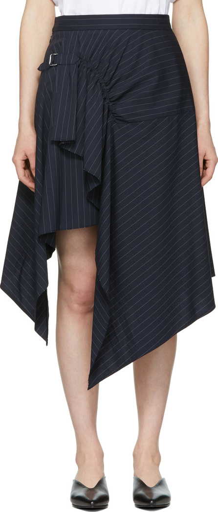 3.1 Phillip Lim Navy Pinstripe Tailored Handkerchief Skirt
