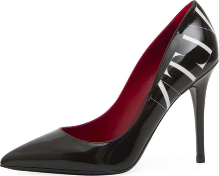 Valentino VLTN Patent Pointed-Toe Pump
