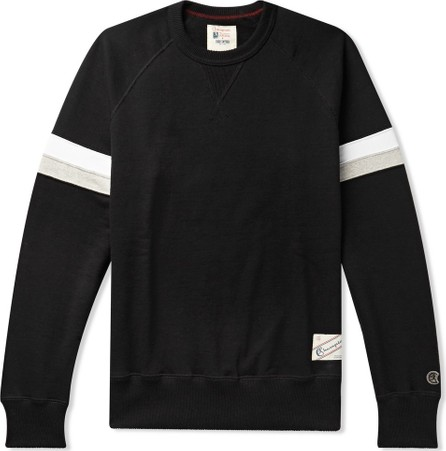 Todd Snyder + Champion Striped Loopback Cotton-Jersey Sweatshirt