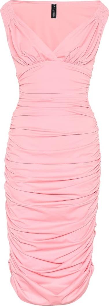 Norma Kamali Tara stretch jersey midi dress