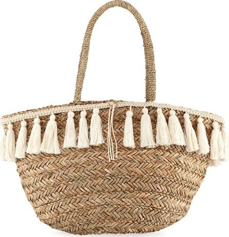 Flora Bella Wilmington Woven Beach Bucket Bag w/ Fringe