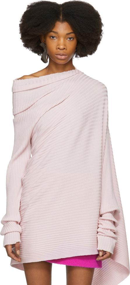 Marques'Almeida Pink Draped Turtleneck