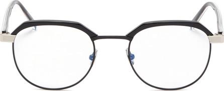 Saint Laurent Metal rim acetate round optical glasses