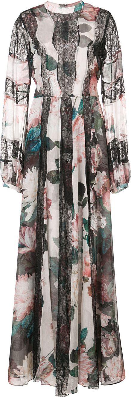 Sachin & Babi Empress floral-print gown