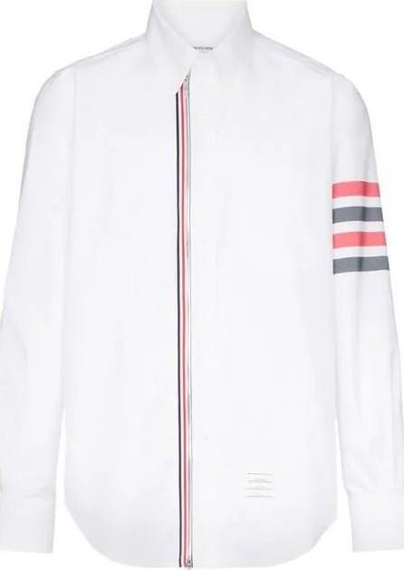 Thom Browne 4-bar zip front cotton shirt