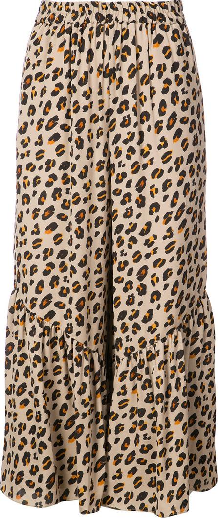 KOBI HALPERIN Leopard print cropped trousers