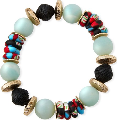 Akola Alternating Amazonite & Glass Bead Bracelet