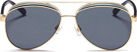 Nº21 Colourblock metal aviator mirror sunglasses