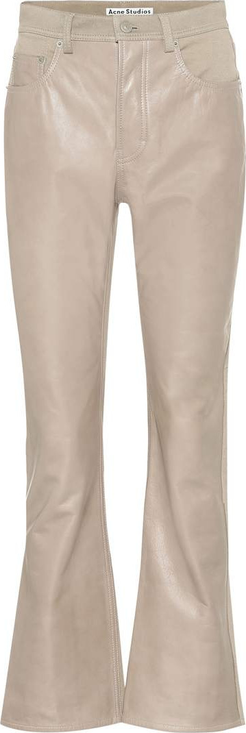 Acne Studios Leather-coated pants