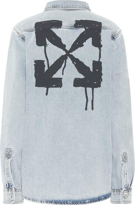 Off White Logo denim shirt
