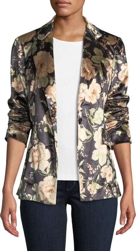 Anatomie Primrose Floral-Print Velvet Jacket
