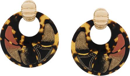 GAS Bijoux Shagreen hoop clip-on earrings