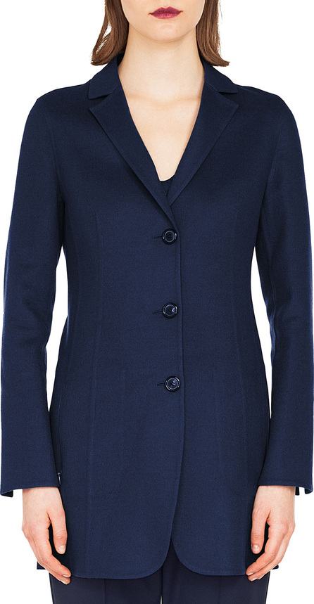 Akris Marion Three-Button Wool-Cashmere Long Jacket