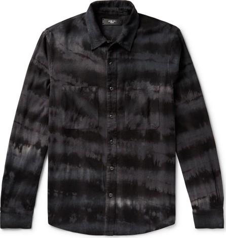 Amiri Tie-Dyed Cotton-Blend Flannel Shirt