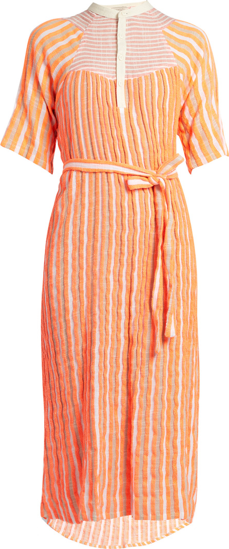 ace&jig Bronte striped jacquard midi dress