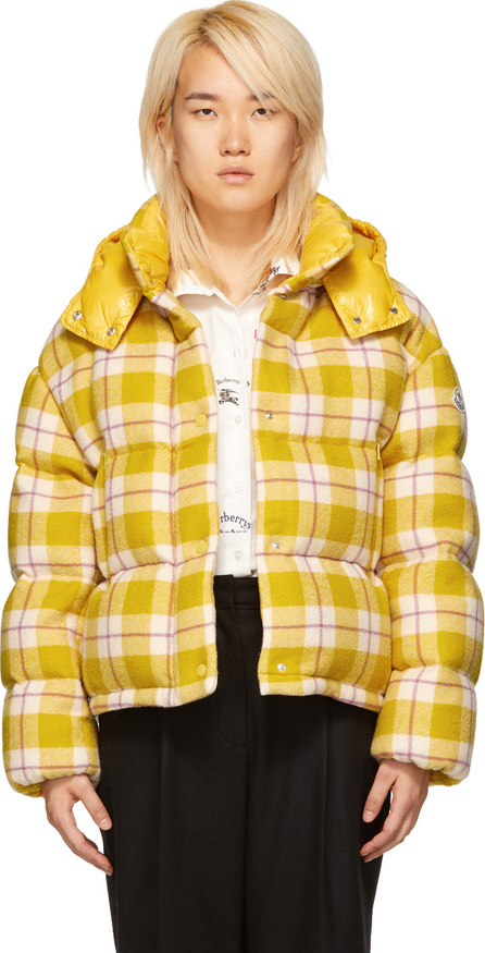 Moncler Yellow Down Check Caille Jacket