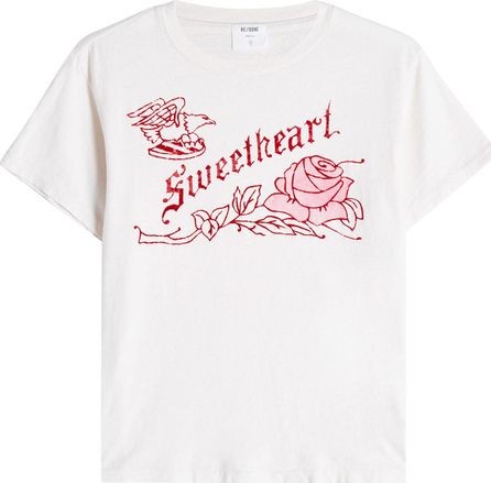 RE/DONE Sweetheart Printed Cotton T-Shirt