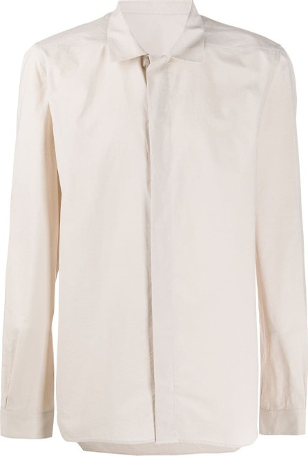 Rick Owens Concealed fastening shirt