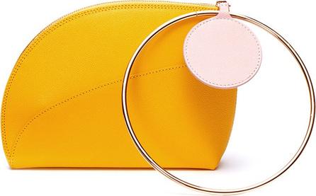 Roksanda 'Eartha' metal ring handle small leather clutch