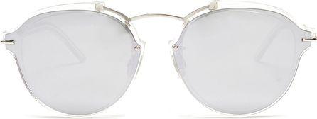 Dior Éclat mirrored round-frame sunglasses