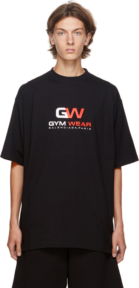 Balenciaga Black 'Gym Wear' Graphic T-Shirt