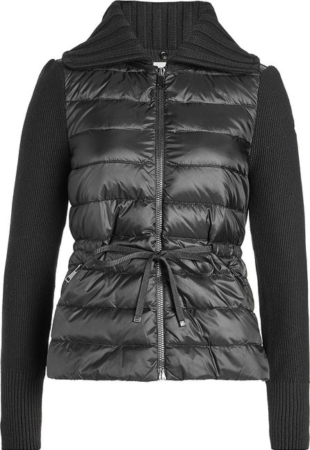 Moncler Jacket with Down-Filled Body and Virgin Wool Sleeves