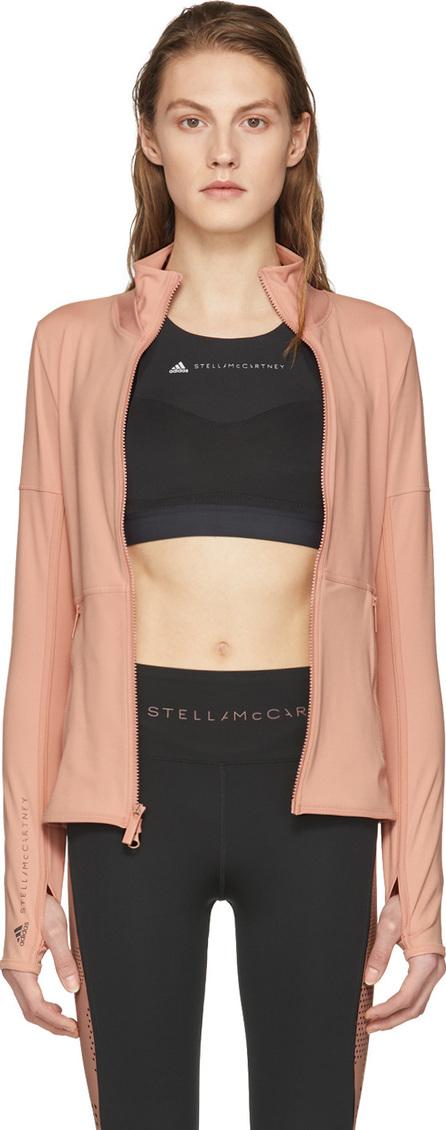 Adidas By Stella McCartney Pink Essentials Midlayer Zip-Up Jacket