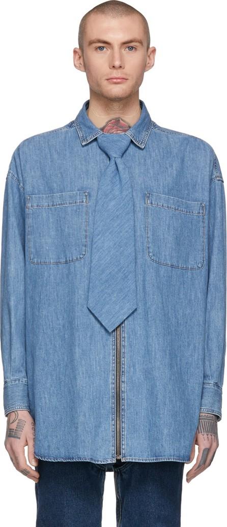 Diesel Red Tag Indigo Shayne Oliver Edition Denim Tie Shirt